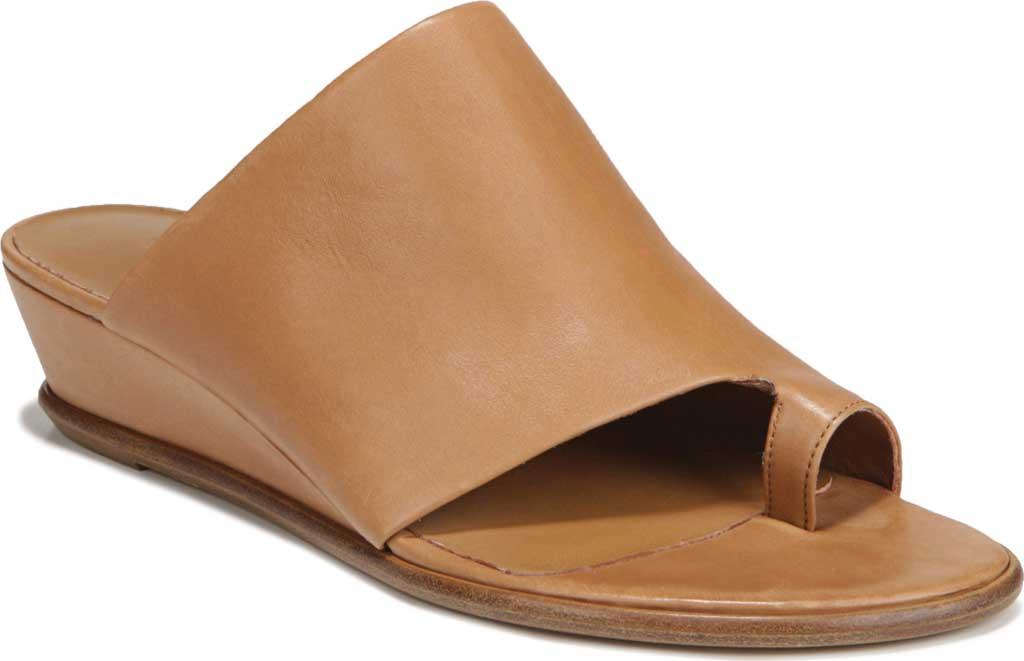 Women's Vince Darla Toe Loop Leather Sandal, Almond Memory Leather, large, image 1