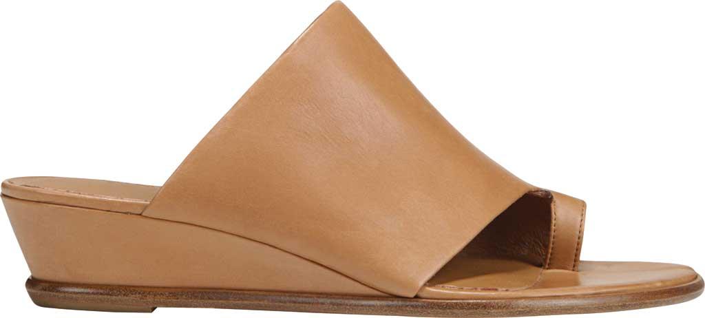 Women's Vince Darla Toe Loop Leather Sandal, Almond Memory Leather, large, image 2