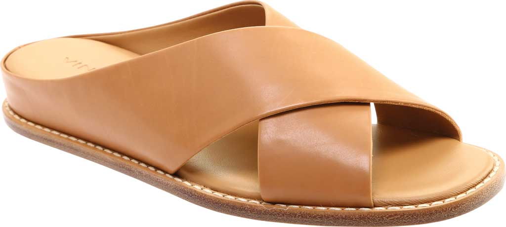 Women's Vince Fairley Leather Slide, Tan Memory Leather, large, image 1