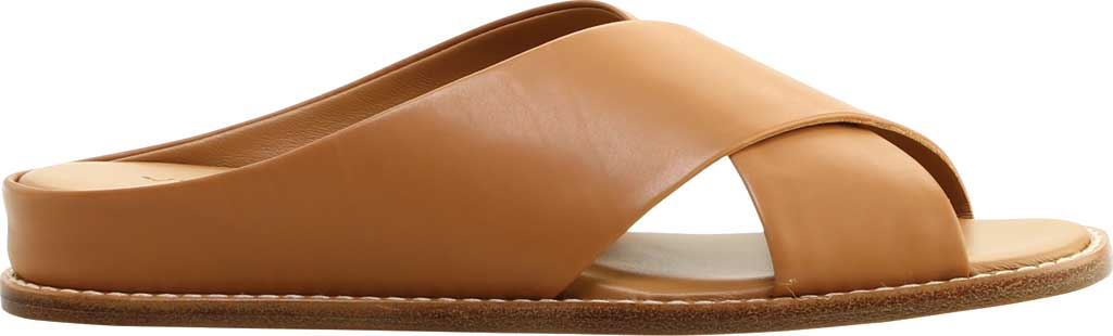 Women's Vince Fairley Leather Slide, Tan Memory Leather, large, image 2