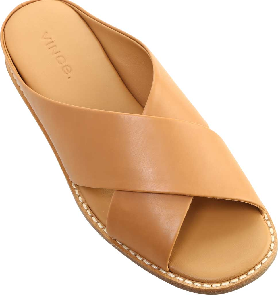 Women's Vince Fairley Leather Slide, Tan Memory Leather, large, image 5