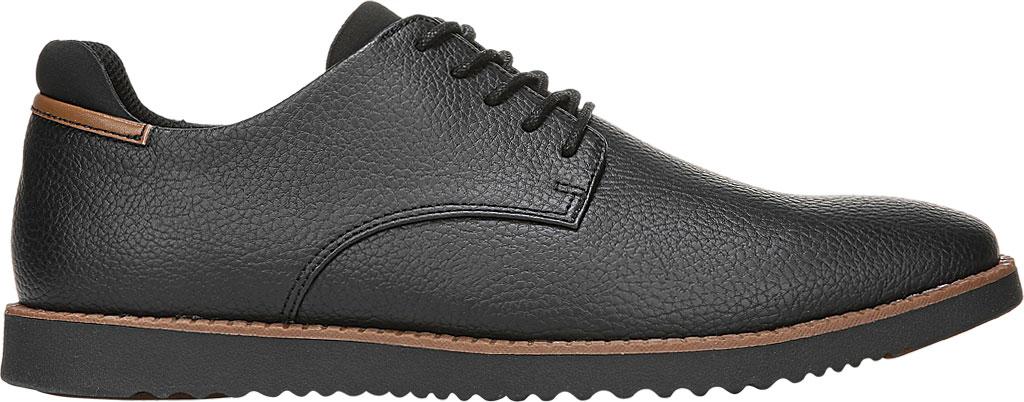 Men's Dr. Scholl's Sync Plain Toe Oxford, Black Faux Leather, large, image 2