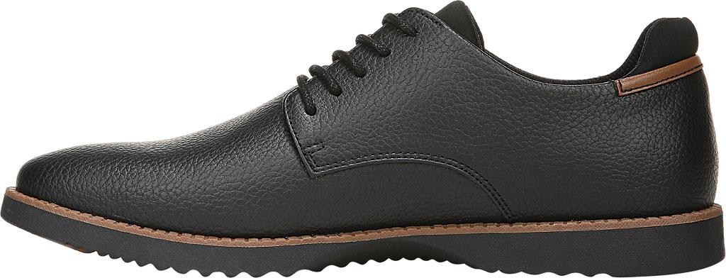 Men's Dr. Scholl's Sync Plain Toe Oxford, Black Faux Leather, large, image 3