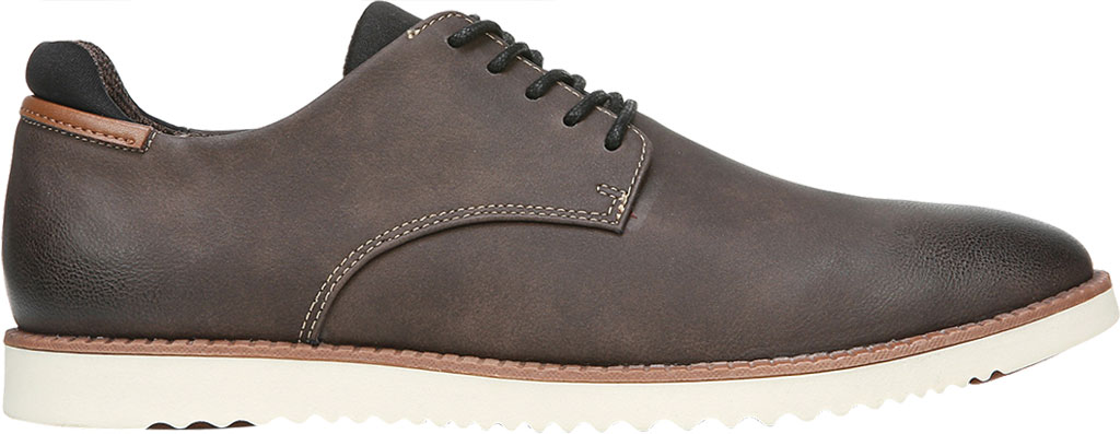 Men's Dr. Scholl's Sync Plain Toe Oxford, Dark Brown Fearless Synthetic Leather, large, image 2