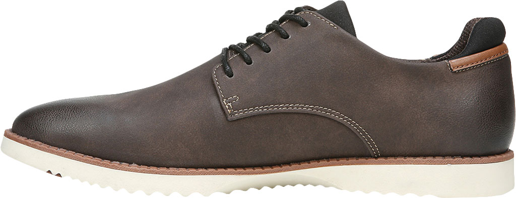 Men's Dr. Scholl's Sync Plain Toe Oxford, Dark Brown Fearless Synthetic Leather, large, image 3