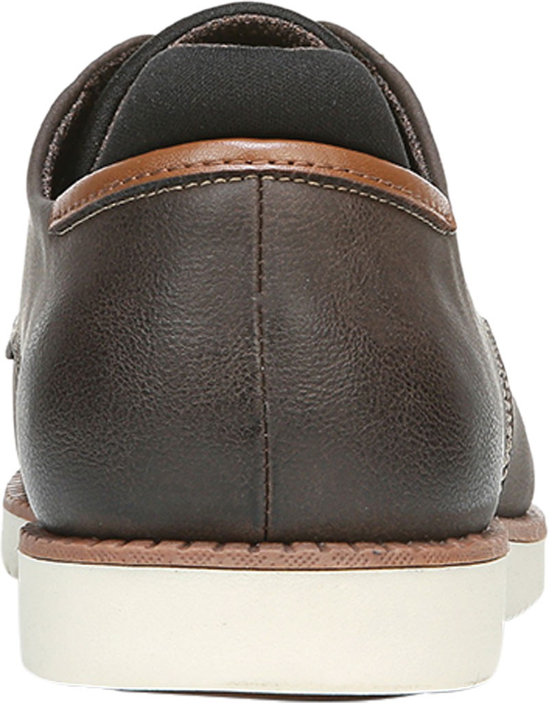 Men's Dr. Scholl's Sync Plain Toe Oxford, Dark Brown Fearless Synthetic Leather, large, image 4