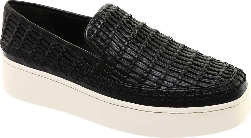Women's Vince Stafford Flatform Sneaker, Black Glove Nappa Leather, large, image 1