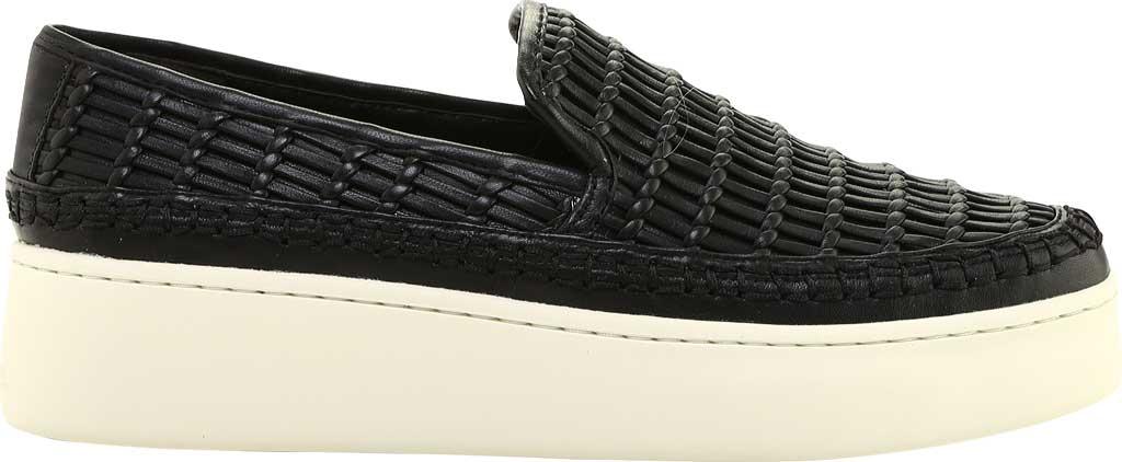 Women's Vince Stafford Flatform Sneaker, Black Glove Nappa Leather, large, image 2