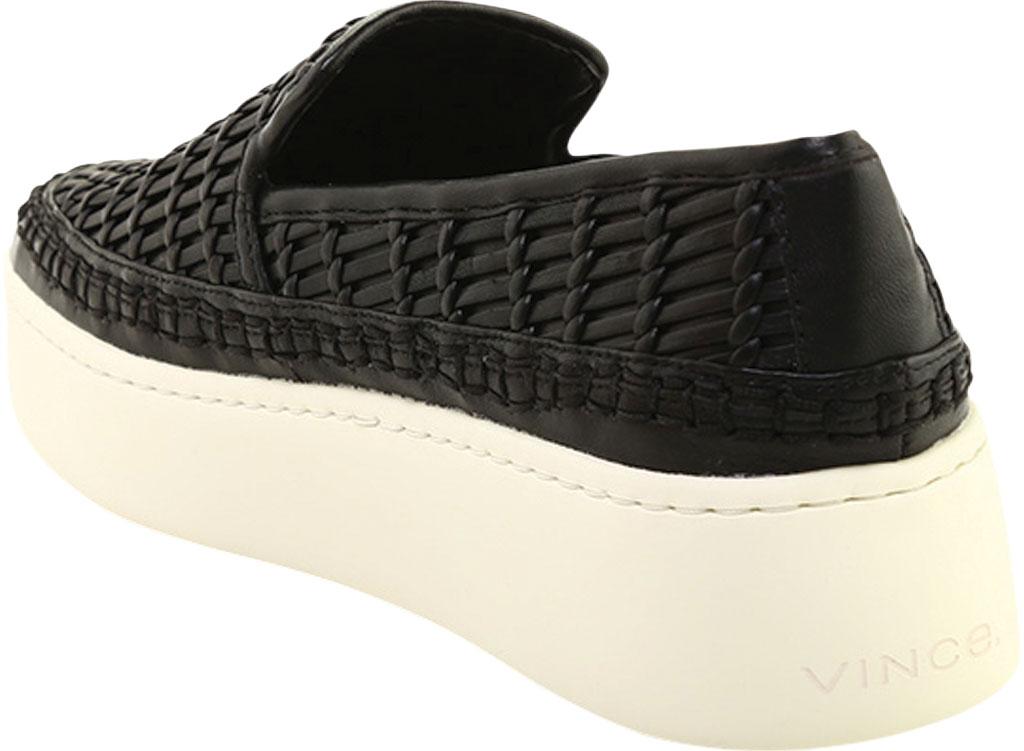 Women's Vince Stafford Flatform Sneaker, Black Glove Nappa Leather, large, image 3