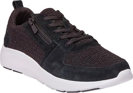 Women's Vionic Remi Sneaker, Black Textile/Leather, large, image 1