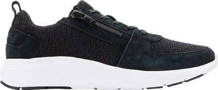 Women's Vionic Remi Sneaker, Black Textile/Leather, large, image 2