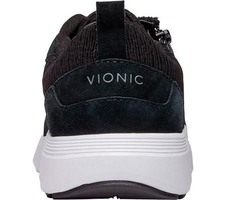 Women's Vionic Remi Sneaker, Black Textile/Leather, large, image 4