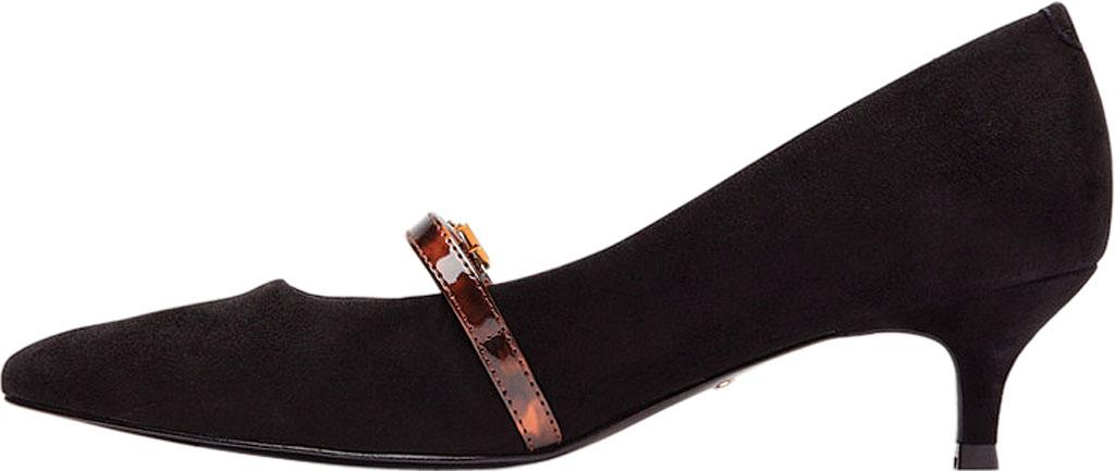 Women's Vionic Minnie Kitten Heel Shoe, Black Tortoise Kid Suede, large, image 3