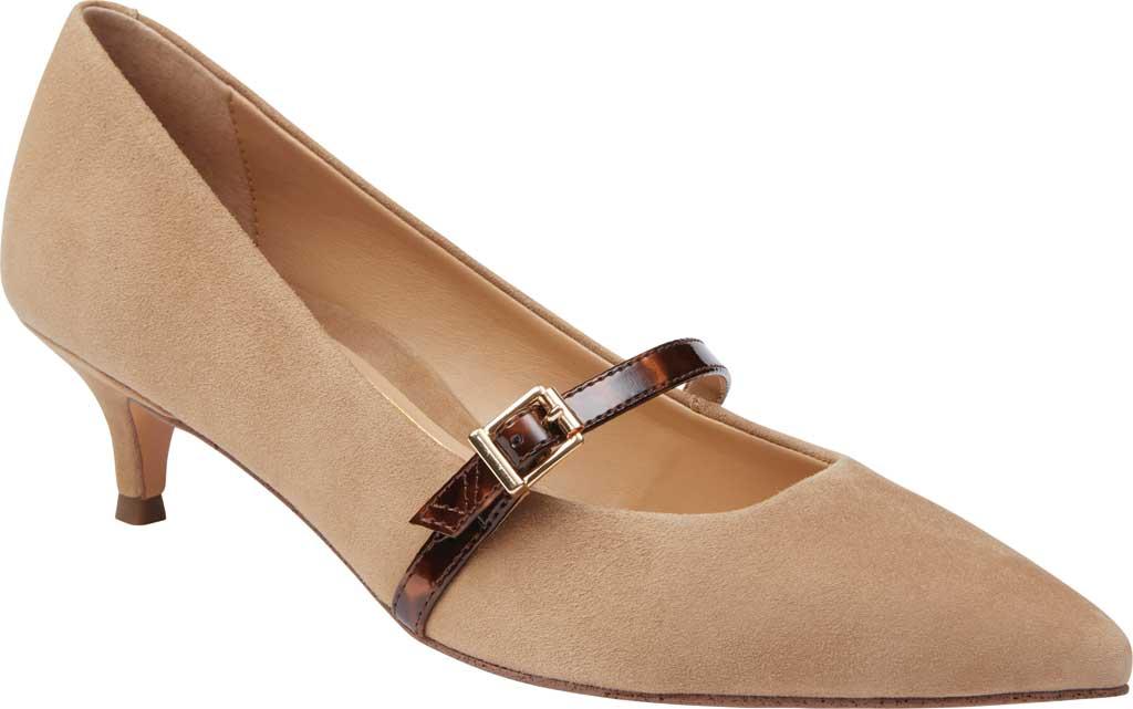 Women's Vionic Minnie Kitten Heel Shoe, Wheat Tortoise Suede, large, image 1