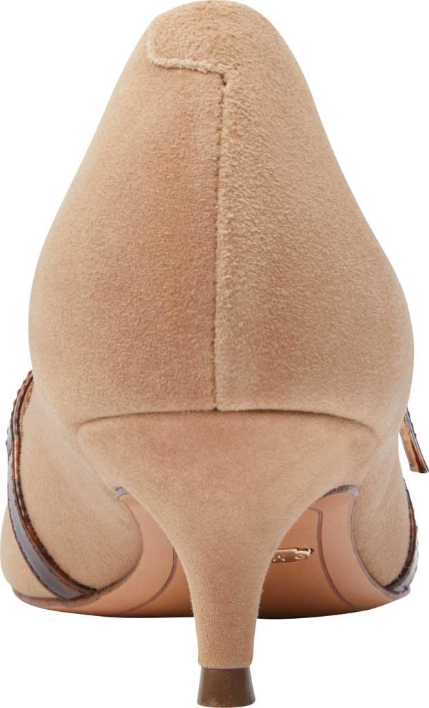 Women's Vionic Minnie Kitten Heel Shoe, Wheat Tortoise Suede, large, image 4
