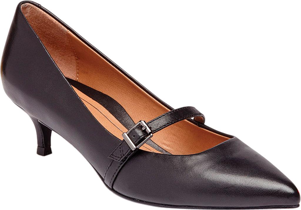 Women's Vionic Minnie Kitten Heel Shoe, Black Leather, large, image 1