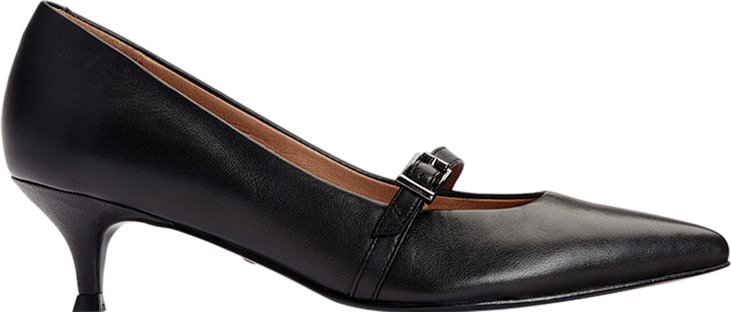 Women's Vionic Minnie Kitten Heel Shoe, Black Leather, large, image 2