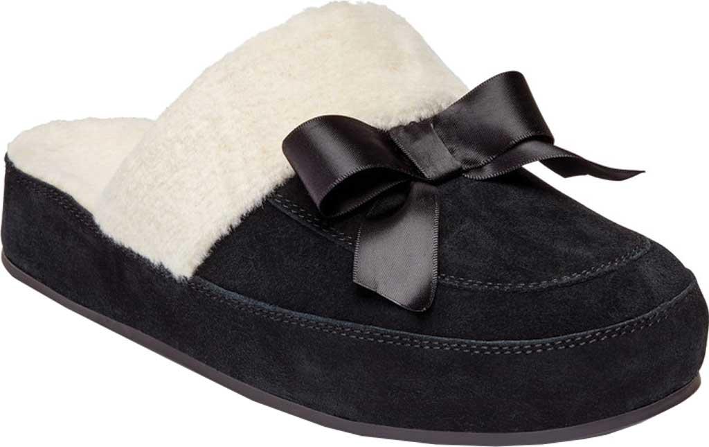 Women's Vionic Nessie Slipper, Black Suede/Textile, large, image 1