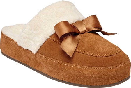 Women's Vionic Nessie Slipper, Toffee Suede/Textile, large, image 1