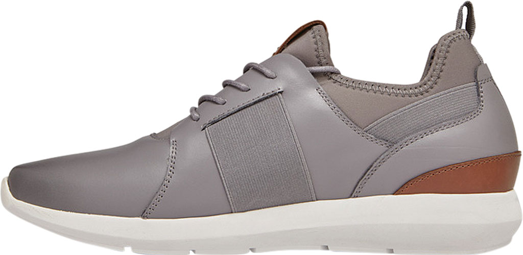 Men's Vionic Caleb Sneaker, Grey Leather/Neoprene, large, image 3