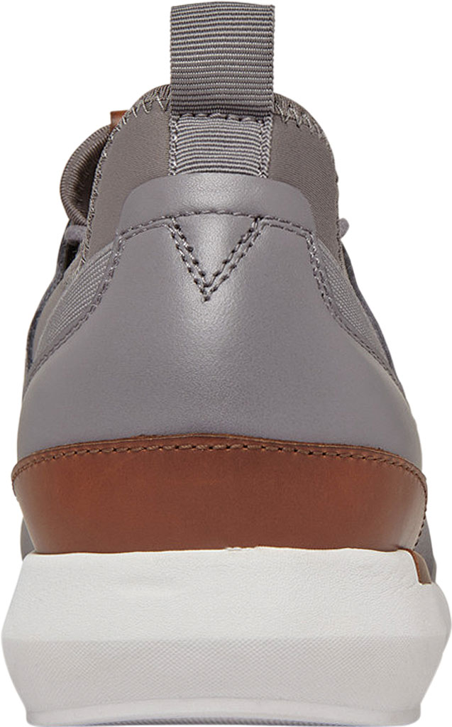 Men's Vionic Caleb Sneaker, Grey Leather/Neoprene, large, image 4