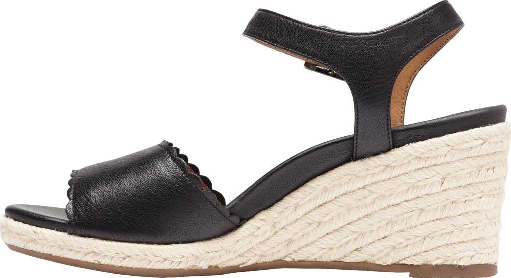 Women's Vionic Stephany Wedge Sandal, Black Nappa Leather, large, image 3