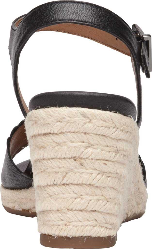 Women's Vionic Stephany Wedge Sandal, Black Nappa Leather, large, image 4