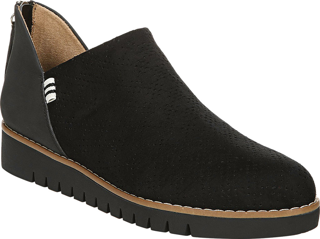 Women's Dr. Scholl's Insane Ankle Boot, Black Microsuede, large, image 1