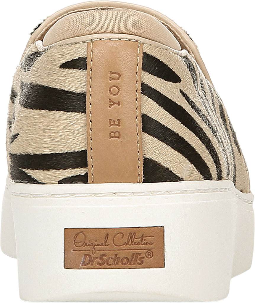 Women's Dr. Scholl's Original Collection Dazed Slip On Sneaker, Tan/Black Pony Hair, large, image 4