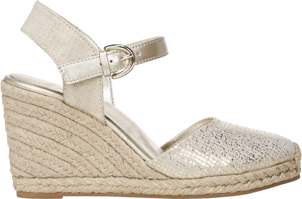 Women's Naturalizer Phebe Espadrille Wedge Sandal, Gold Wash Leather, large, image 2