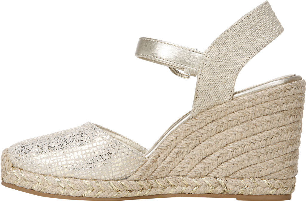 Women's Naturalizer Phebe Espadrille Wedge Sandal, Gold Wash Leather, large, image 3