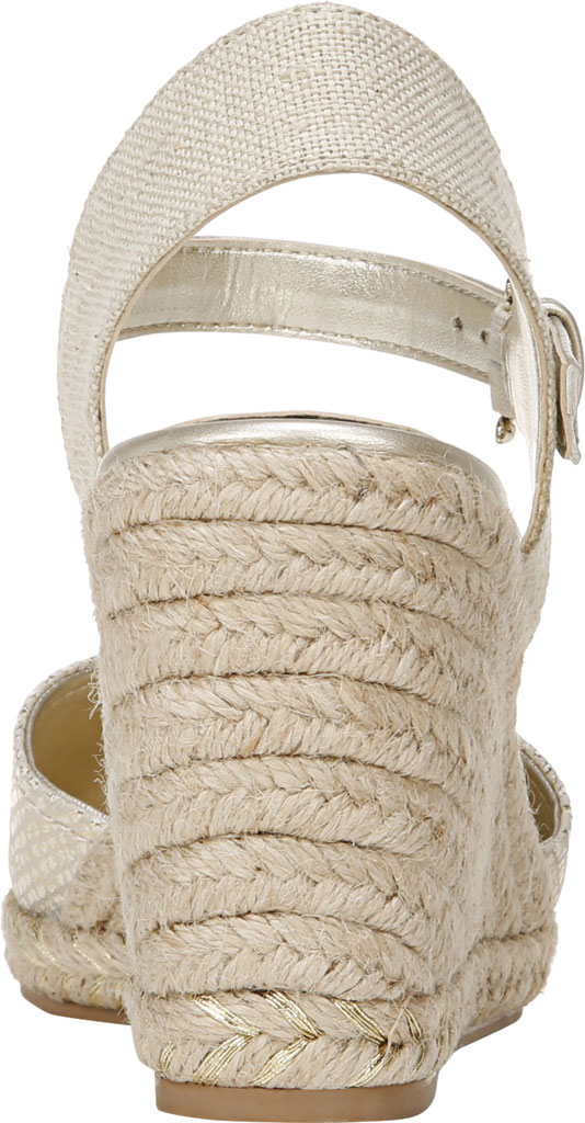 Women's Naturalizer Phebe Espadrille Wedge Sandal, Gold Wash Leather, large, image 4