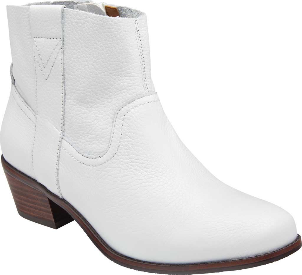 Women's Vionic Roselyn Ankle Boot, Tumbled White Leather, large, image 1