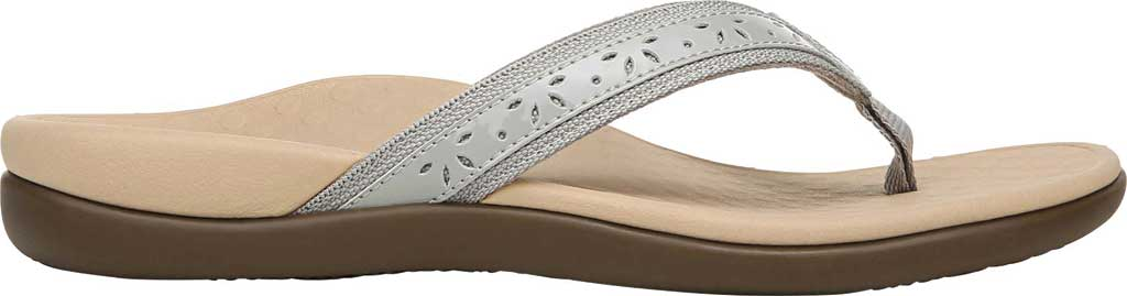 Women's Vionic Casandra Thong Sandal, Light Grey Leather, large, image 2