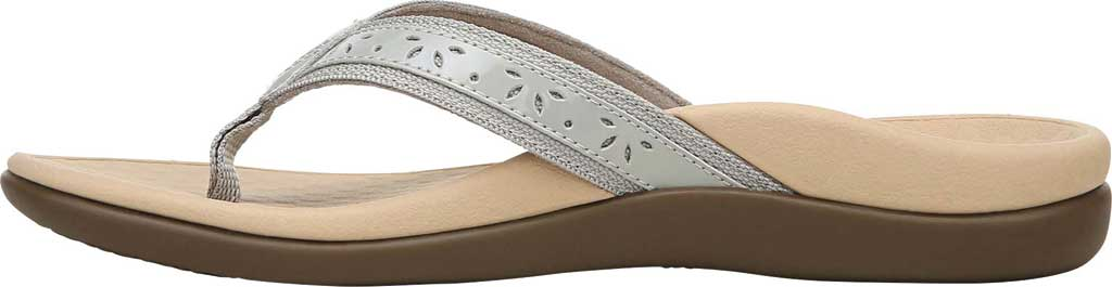 Women's Vionic Casandra Thong Sandal, Light Grey Leather, large, image 3