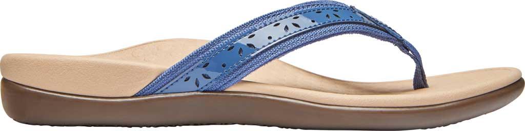 Women's Vionic Casandra Thong Sandal, Indigo Leather, large, image 2