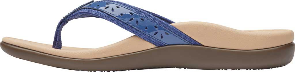 Women's Vionic Casandra Thong Sandal, Indigo Leather, large, image 3