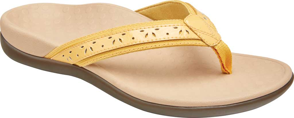 Women's Vionic Casandra Thong Sandal, Buttercup Leather, large, image 1
