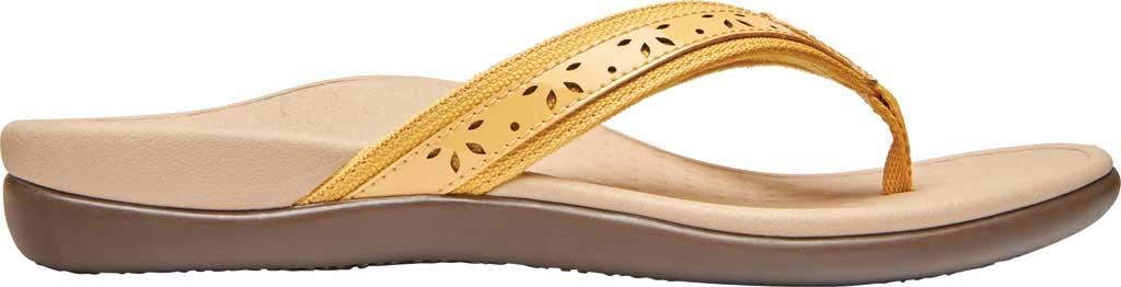 Women's Vionic Casandra Thong Sandal, Buttercup Leather, large, image 2