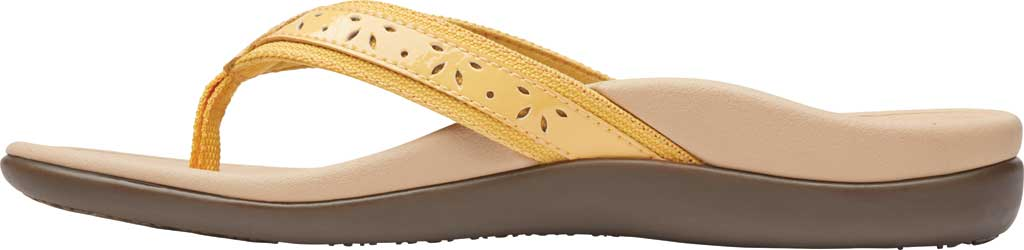 Women's Vionic Casandra Thong Sandal, Buttercup Leather, large, image 3