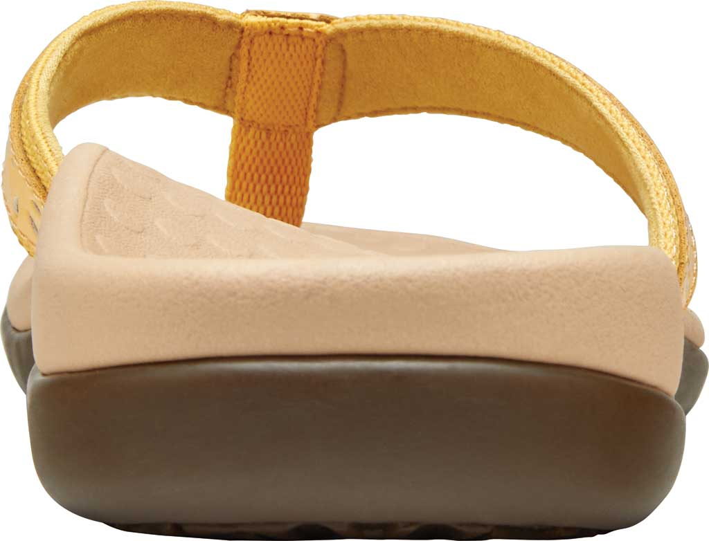 Women's Vionic Casandra Thong Sandal, Buttercup Leather, large, image 4