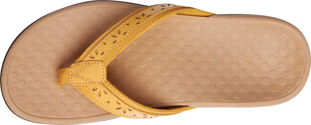 Women's Vionic Casandra Thong Sandal, Buttercup Leather, large, image 5