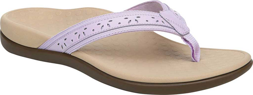 Women's Vionic Casandra Thong Sandal, Pastel Lilac Leather, large, image 1