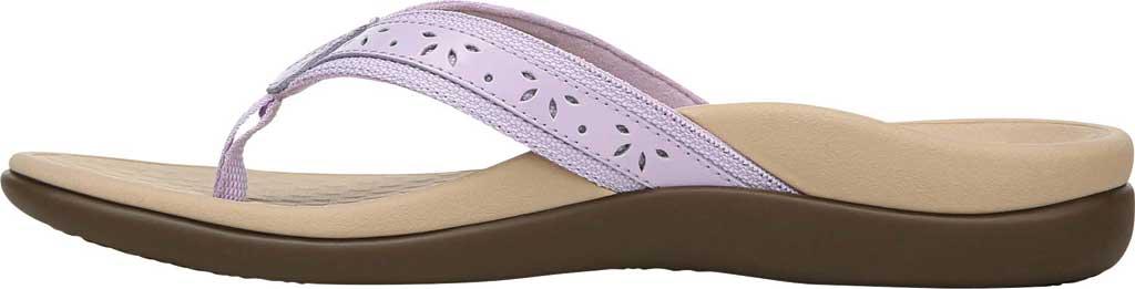 Women's Vionic Casandra Thong Sandal, Pastel Lilac Leather, large, image 3