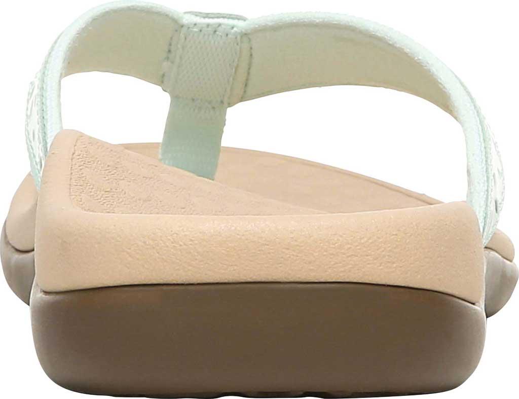 Women's Vionic Casandra Thong Sandal, Seafoam Leather, large, image 4