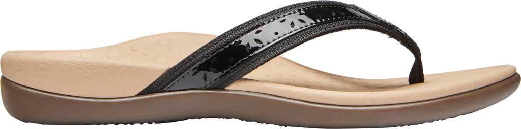 Women's Vionic Casandra Thong Sandal, Black Leather, large, image 2