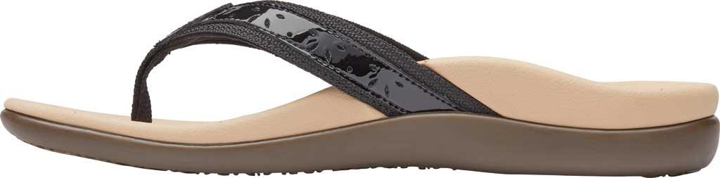 Women's Vionic Casandra Thong Sandal, Black Leather, large, image 3