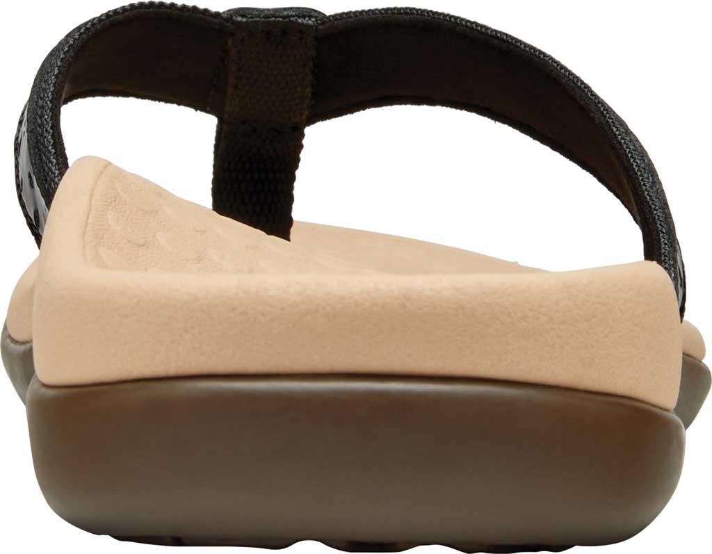 Women's Vionic Casandra Thong Sandal, Black Leather, large, image 4