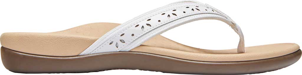 Women's Vionic Casandra Thong Sandal, White Leather, large, image 2