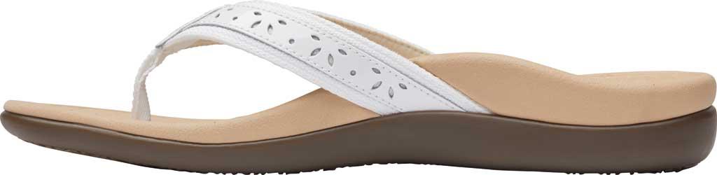 Women's Vionic Casandra Thong Sandal, White Leather, large, image 3